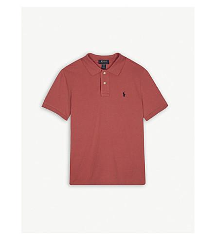 RALPH LAUREN Logo cotton polo shirt S-XL (Pink