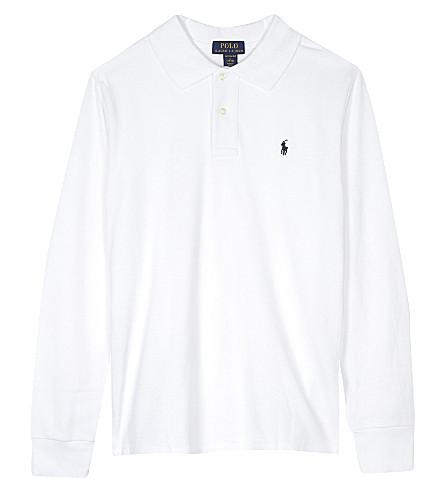 RALPH LAUREN Logo cotton polo shirt 6-14 years (White