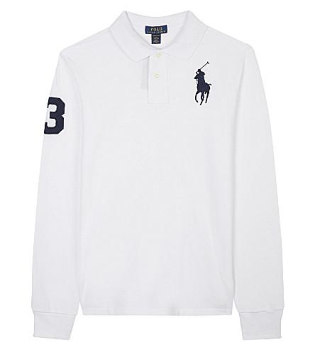 RALPH LAUREN Cotton mesh polo shirt 6-14 years (White