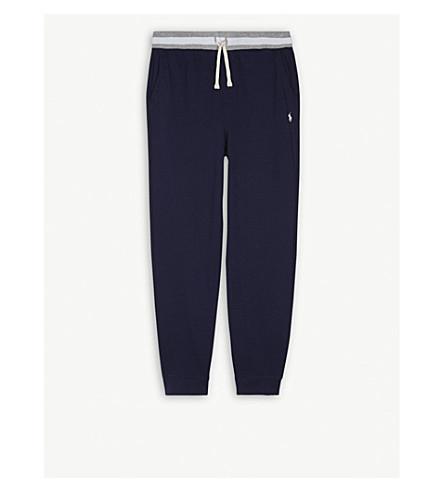 RALPH LAUREN Embroidered brand logo cotton jogging bottoms 6-14 years (Newport+navy