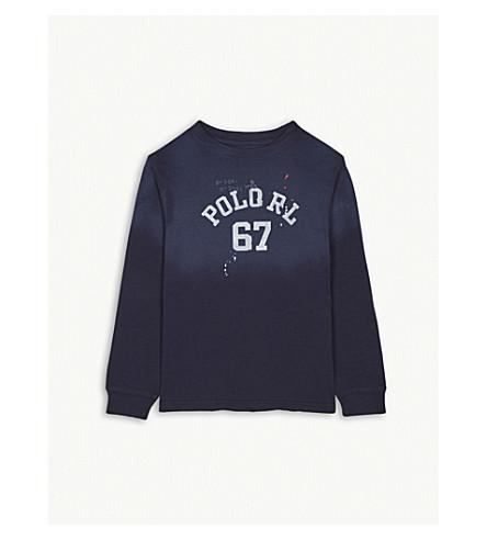RALPH LAUREN POLO 67 cotton long-sleeve T-shirt 6-14 years (Newport+navy