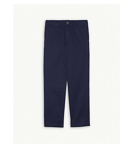 RALPH LAUREN Stretch cotton-blend chinos 8-16 years (Newport+navy