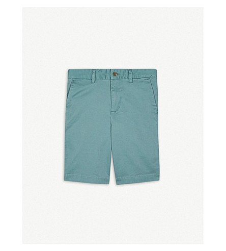 RALPH LAUREN Stretch-cotton chino shorts 8-16 years (Green