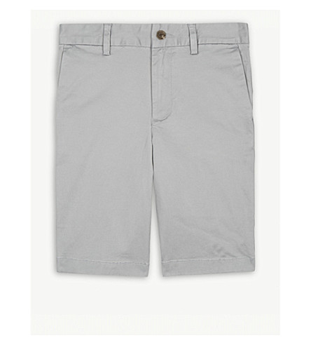 RALPH LAUREN Stretch-cotton chino shorts 8-16 years (Avenue+grey