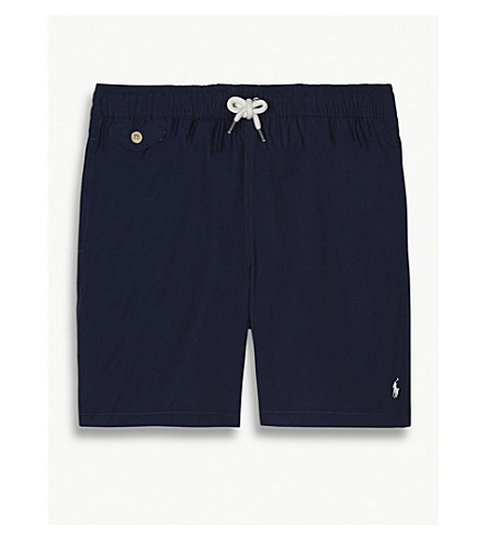 RALPH LAUREN Pony swim shorts 6-14 years (Newport+navy