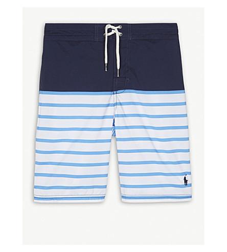 RALPH LAUREN Striped swim shorts 6-14 years (Navy+multi