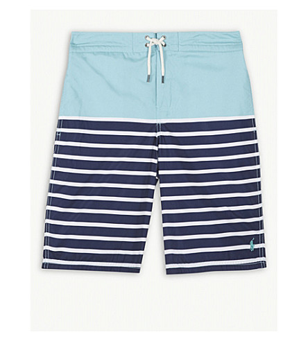 RALPH LAUREN Striped swimming shorts S-XL (Seafoam