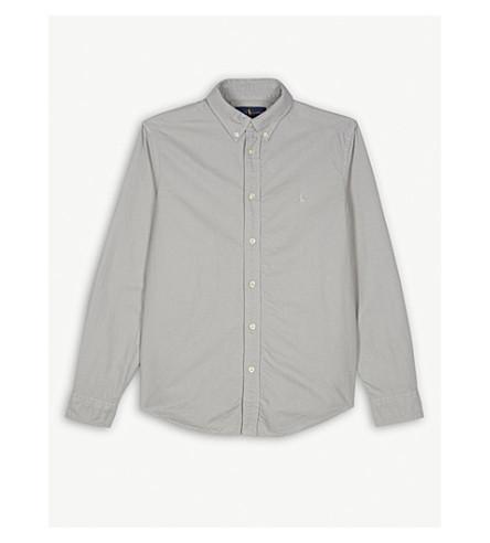 RALPH LAUREN Embroidered brand logo shirt 6-14 years (Avenue+grey