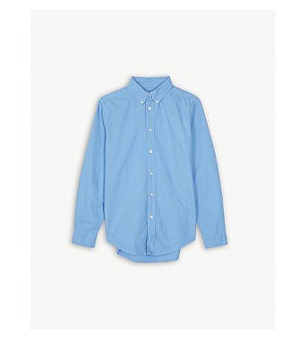 RALPH LAUREN Logo cotton Oxford shirt S-XL (Florida+blue