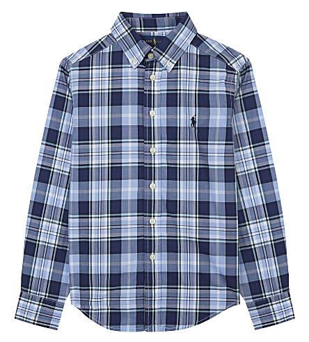RALPH LAUREN Plaid poplin shirt 6-14 years (Blue+multi