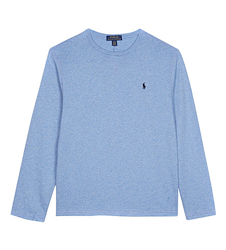 RALPH LAUREN Crew neck cotton sweatshirt S-XL (Blue