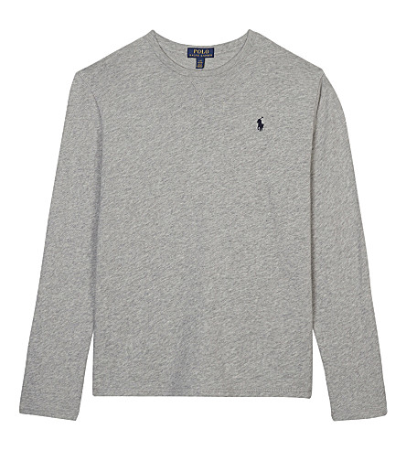 RALPH LAUREN Crew neck cotton sweatshirt S-XL (Light+grey
