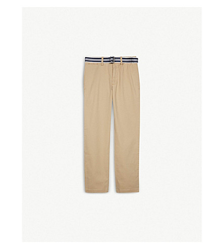 RALPH LAUREN Skinny fit cotton chinos 8-16 years (Coastal+beige