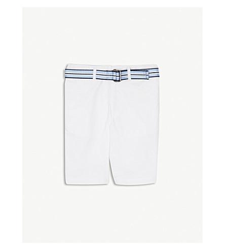 RALPH LAUREN Slim fit cotton-blend chino shorts 8-16 years (White