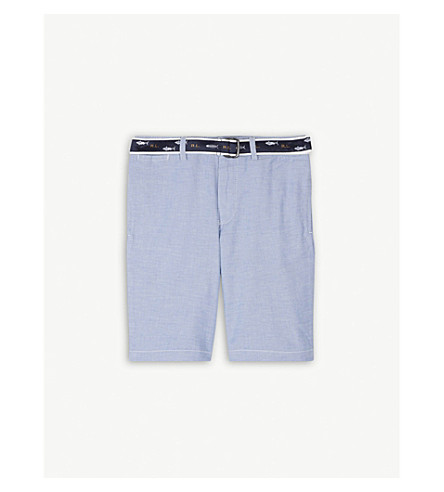 RALPH LAUREN Chino cotton-blend shorts 8-16 years (Bsr+blue