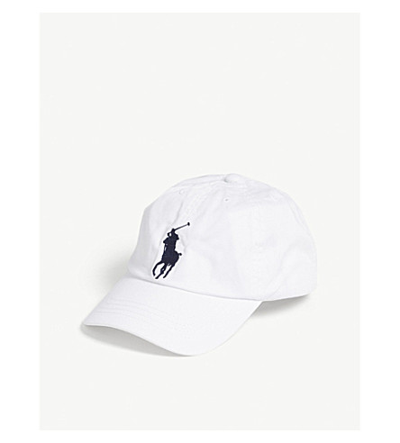 RALPH LAUREN Big Pony cotton strapback cap (White