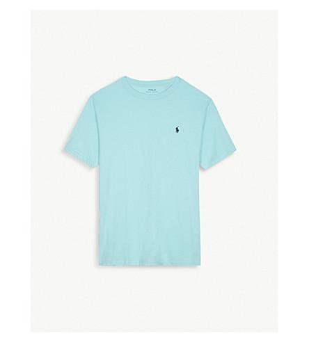 RALPH LAUREN Cotton crew neck brand logo T-shirt 6-14 years (Light+mint