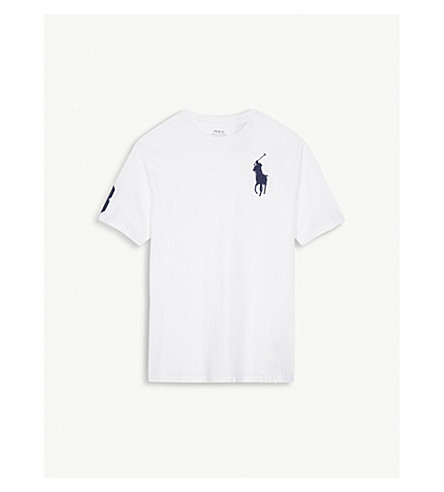 RALPH LAUREN Embroidered logo cotton T-shirt 6-14 years (White