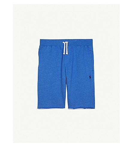 RALPH LAUREN Terry cotton drawstring shorts 6-14 years (New+iris