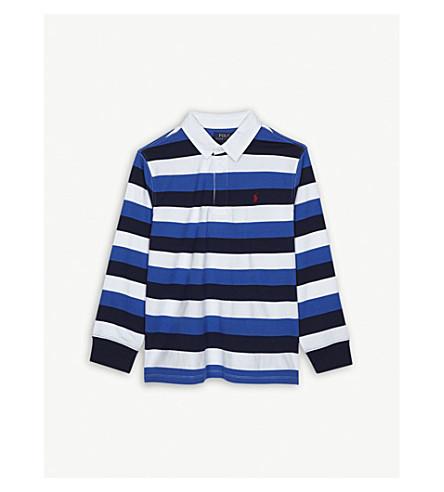 RALPH LAUREN Striped cotton rugby top S-XL (New+iris