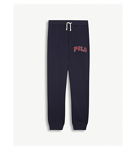 RALPH LAUREN Brand logo drawstring jogging bottoms 6-14 years (Newport+navy