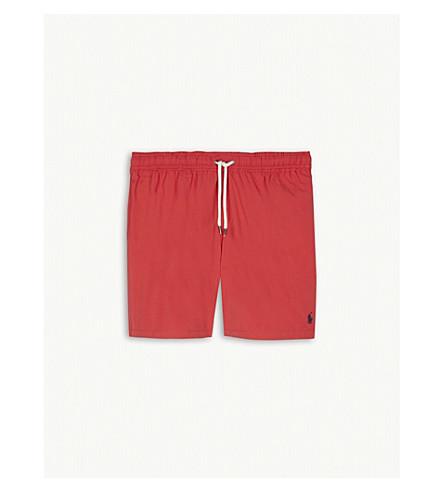 RALPH LAUREN Polo logo swim shorts 6-14 years (Orange+red