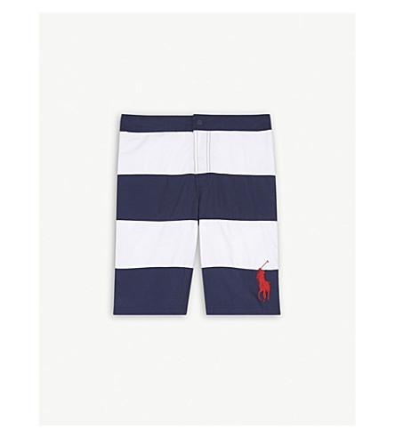 RALPH LAUREN Logo stripe swim shorts S-XL (Navy+multi
