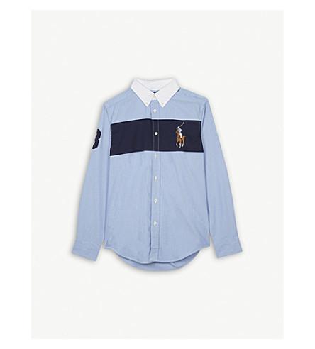 RALPH LAUREN Big stripe cotton shirt 6-14 years (Bsr+blue+multi