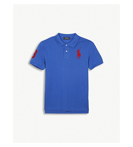 RALPH LAUREN Embroidered logo cotton polo shirt 6-14 years (New+iris