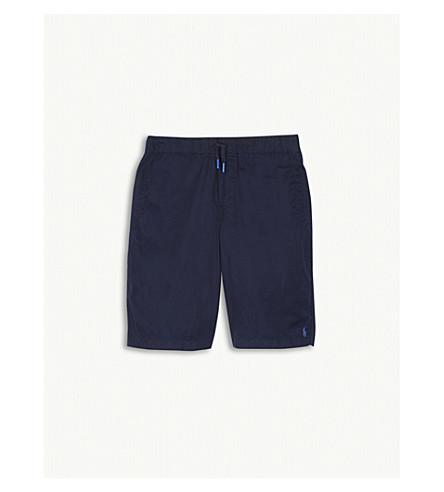 RALPH LAUREN Embroidered-logo cotton shorts (Newport navy
