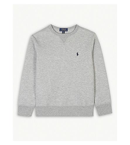 RALPH LAUREN Logo cotton-blend sweatshirt S-XL (Light+grey