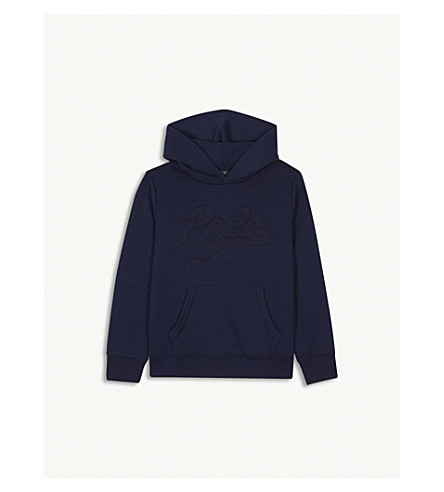 RALPH LAUREN Logo cotton-blend hoody S-XL (Navy