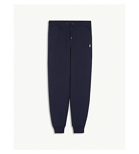RALPH LAUREN Logo cotton-blend jogging bottoms 6-14 years (French+navy