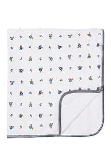 RALPH LAUREN Bear print receiving blanket