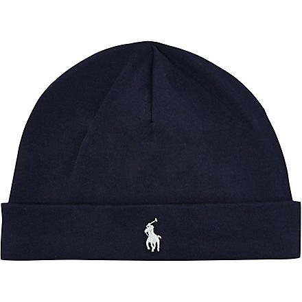 RALPH LAUREN Reversible beanie hat (Navy