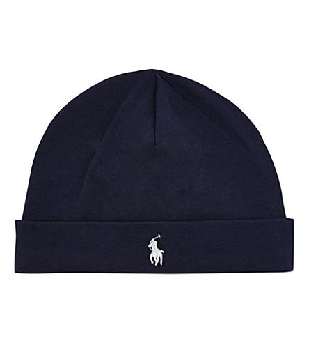 RALPH LAUREN Reversible beanie hat (Navy