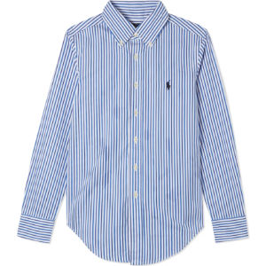 Custom-fit cotton striped shirt 8-16 years