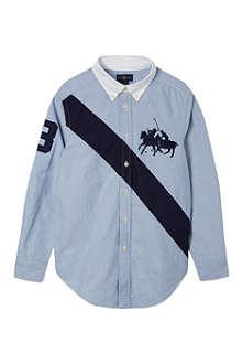 RALPH LAUREN Chambray oxford shirt S-XL