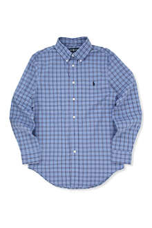 RALPH LAUREN Custom fit checked shirt 8-16 years