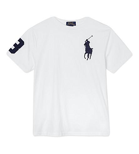 RALPH LAUREN Big pony short-sleeved t-shirt 6-14 years (White