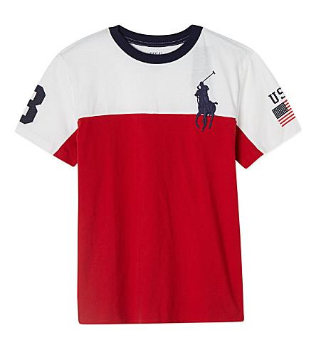 RALPH LAUREN Printed cotton t-shirt 6-14 years (Rl2000 red