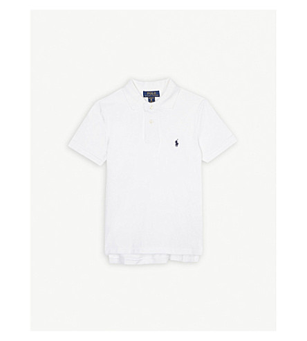 RALPH LAUREN Pony custom fit cotton polo shirt 6-14 years (White