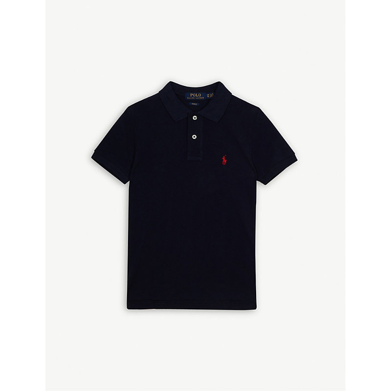 RALPH LAUREN | Ralph Lauren Pony Custom Fit Short-Sleeve Polo Shirt 6-14 Years, Size: Medium, French Navy | Goxip
