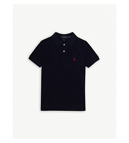 RALPH LAUREN Pony custom fit short-sleeve polo shirt 6-14 years (French+navy