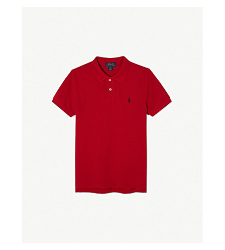 RALPH LAUREN Pony custom fit short-sleeve cotton polo 6-14 years (New+red