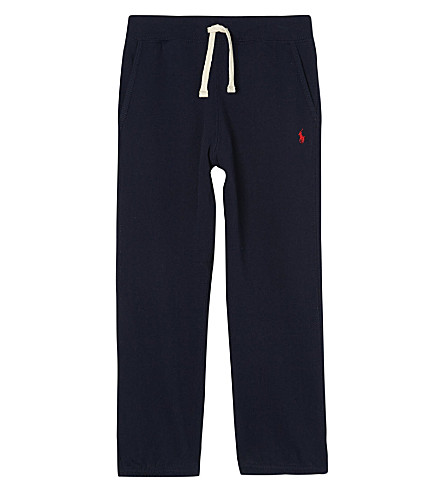 RALPH LAUREN Logo cotton-blend jogging bottoms 6-14 years (Cruise+navy