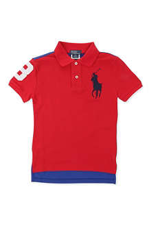 RALPH LAUREN Big Pony two-tone polo shirt 8-16 years