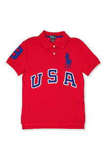 RALPH LAUREN Big Pony USA polo shirt 8-16 years