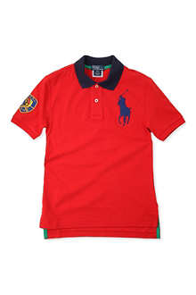 RALPH LAUREN Big Pony colour-block polo shirt 8-16 years