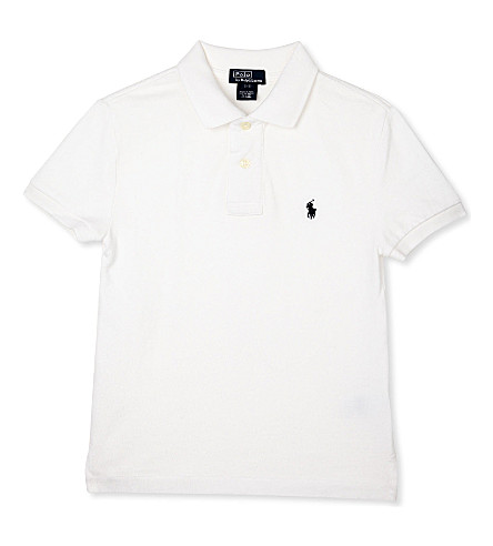 RALPH LAUREN Custom fit polo shirt S-XXL (White